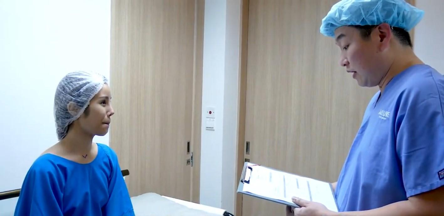 Vanessa Breast Lift Surgery Pre-Operation Dr Samuel Ho Allure Plastic Surgery
